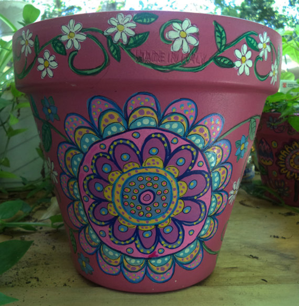 flower pots painted