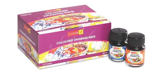 Coloured Drawing Inks set