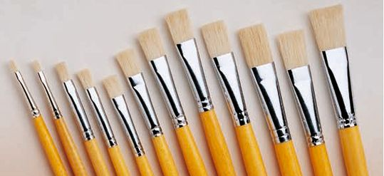 Camlin White Bristle Brushes (Series 56)