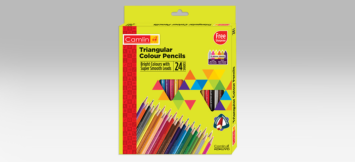 Triangular Colour Pencils 12 shades